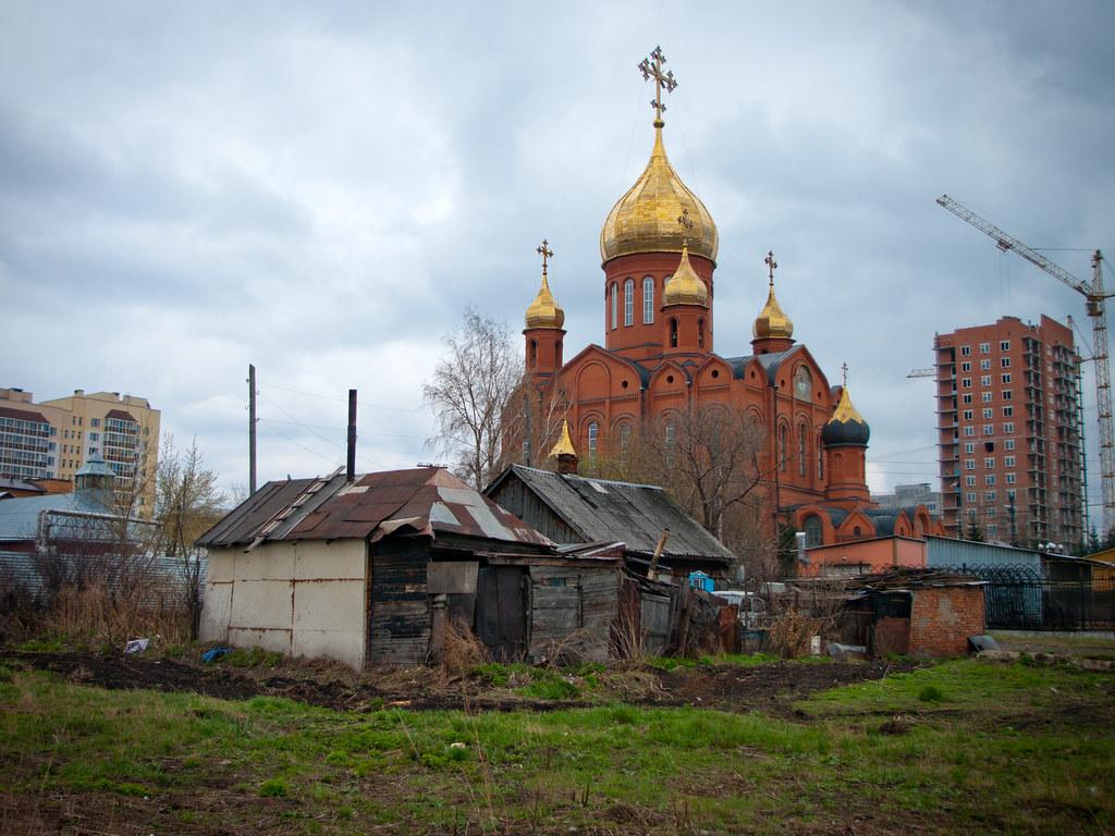 Orthodox church in Kemerovo Russia Pentax