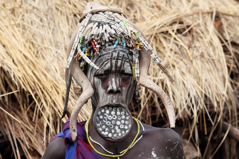 Mursi woman   Ethiopia's Omo Valley is undoubtedly one of ...