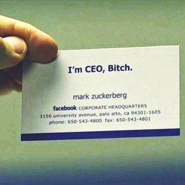 Mark Zuckerbergs Business Card Tr Sweeney Flickr