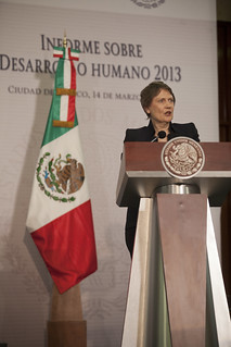 UNDP Administrator Helen Clark at the HDR2013 official launch in Mexico City | by United Nations Development Programme