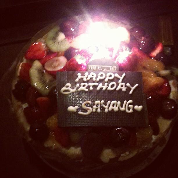 My Birthday Cake From Mu Love Sasafebbia Cake Birthday Flickr