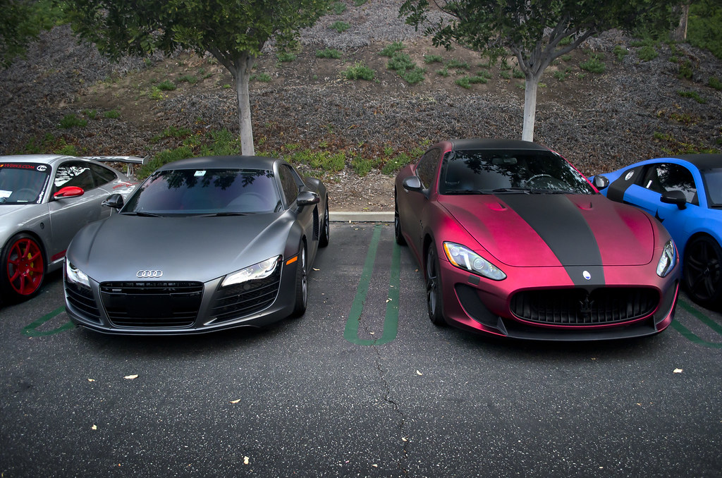 Wrapped Audi R8 And Maserati Granturismo Mc Wrapped Audi
