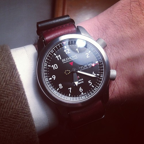 Wearing my own @bremontwatchcom MBII tonight as we host readers at the @acehotel. | by HODINKEE
