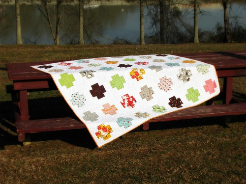 Mom's Flea Market Fancy Cross Quilt Picnic Table | by Sarah.WV