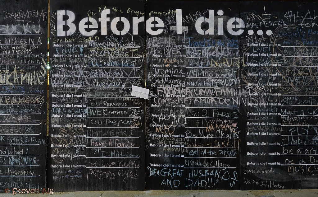 before i die speech Thanks to the thousands of people who have created walls in their communities, before i die has become a global participatory public art project that reimagines our relationship with death and with one another.
