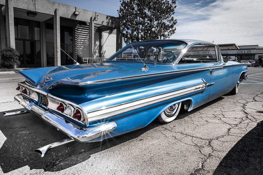 Blue 1960 Chevy Impala | Blue 1960 Chevy Impala On Display a… | Flickr