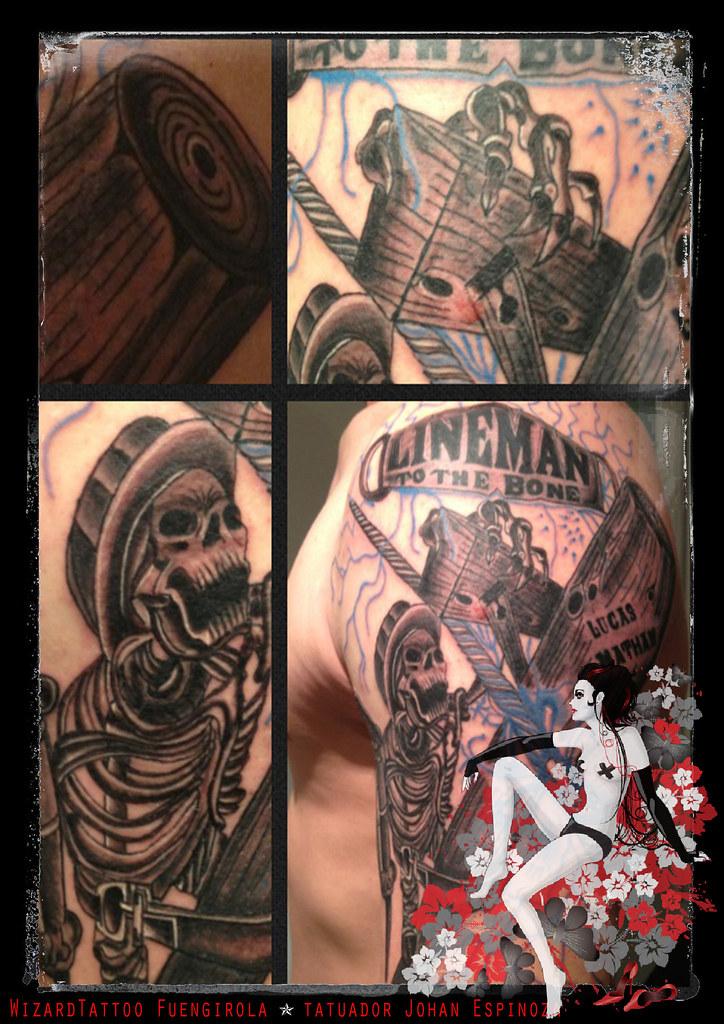 lineman tattoo johan espinoza flickr. Black Bedroom Furniture Sets. Home Design Ideas