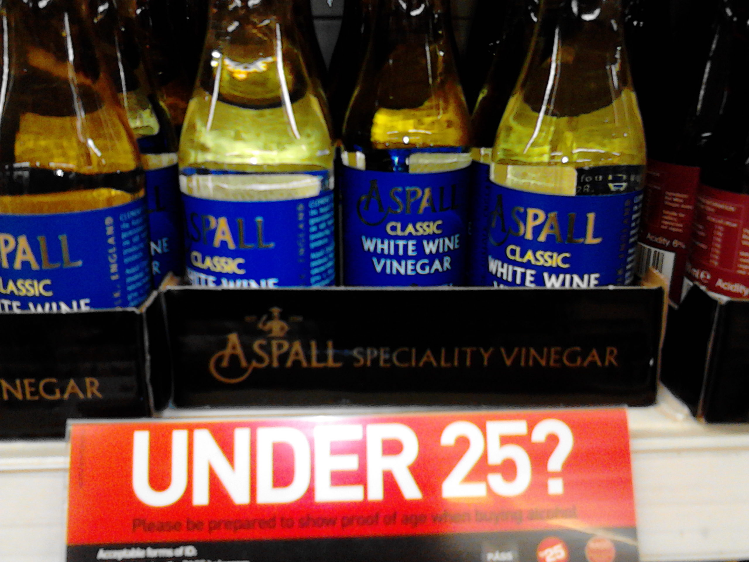 Under 25? Please be prepared to show proof of age when buying alcohol