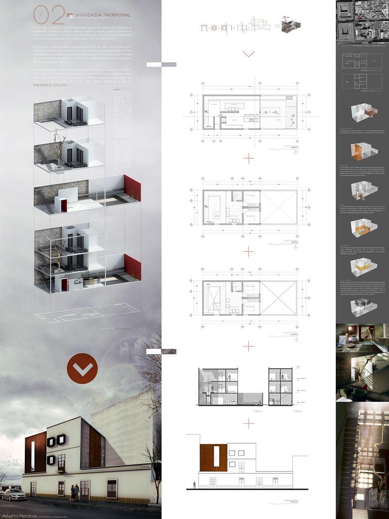 Lamina taller vertical c 2 vivienda patrimonial casa for Ad architectural design