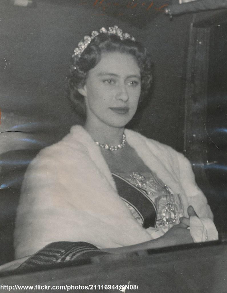 Princess Margaret Leaves Dinner Dateoctober 19 1955 Dpri Flickr