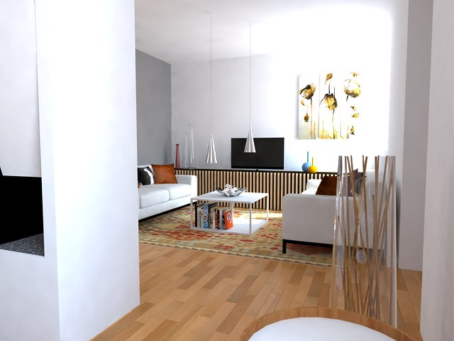 appartamento.. Continuano le immagini della Zona Living dove il camino ...