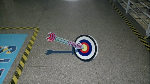 3D floor sticker for company logo | 3D Floor Sticker ...