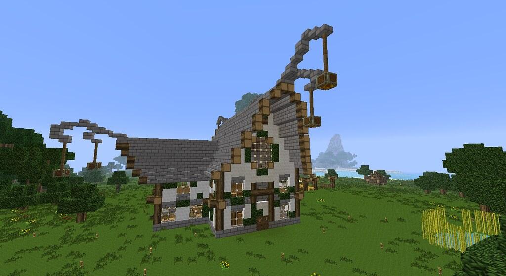 Maison elfique elven home minecraft une jolie petite mais flickr - Maison style minecraft ...