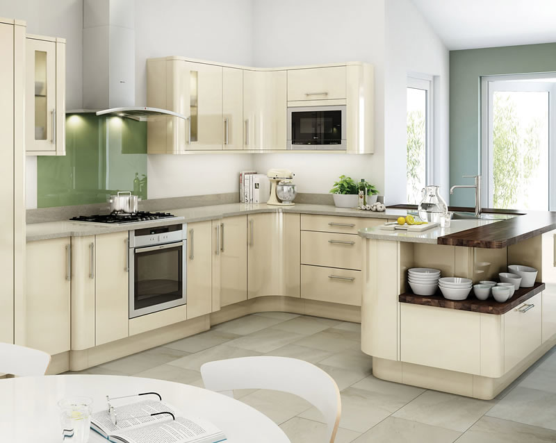 Avant ivory kitchen an avant ivory high gloss kitchen for Kitchen designs high gloss