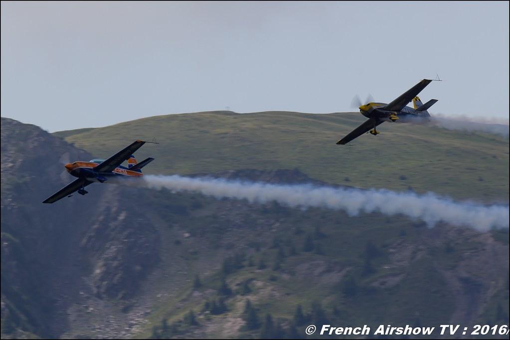 Aude Lemordant & Catherine Maunoury , Extra 330 SC F-HXAL Extra 300L F- HCSA , Meribel Air Show , 2016 , meribel airshow , les 3 vallees , Méribel LFKX/MFX