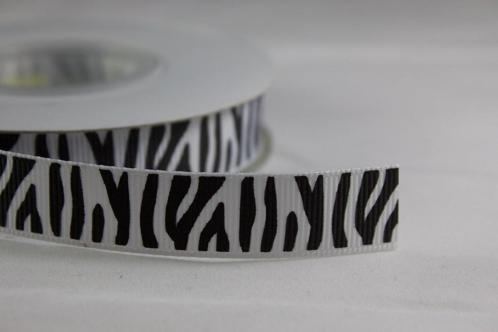 Ripsband Zebra 15mm