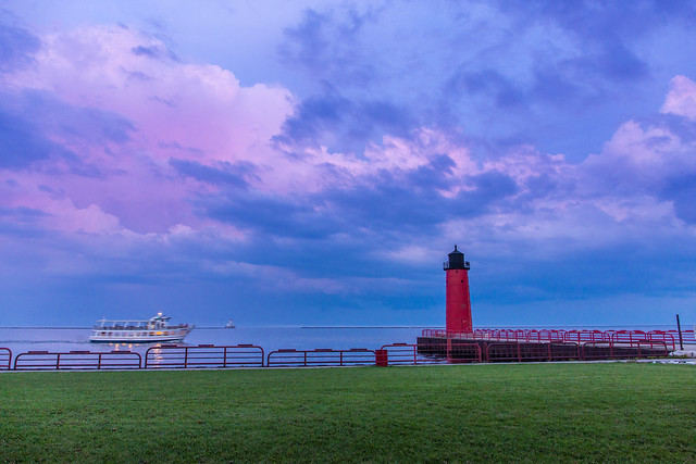 Wide - Twilight at Pierhead Lighthouse