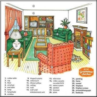 ... Here Is Some Useful Vocabulary To Talk About Rooms In Your House, And  The Furniture