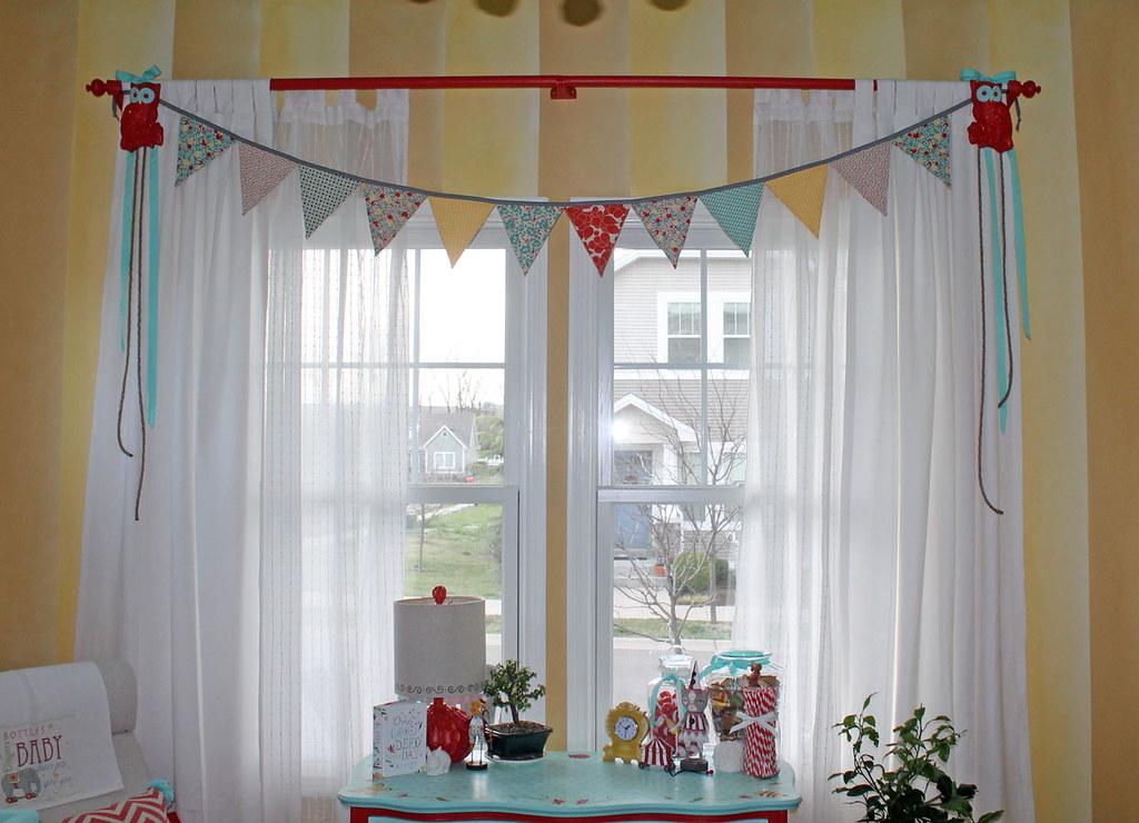 Vintage Circus Nursery Window Treatment Ikea Curtains