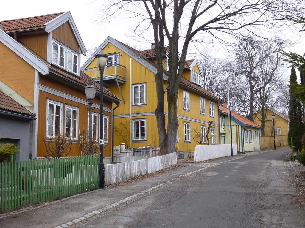Old wood houses of oslo norway this photograph is for Norway wooden houses