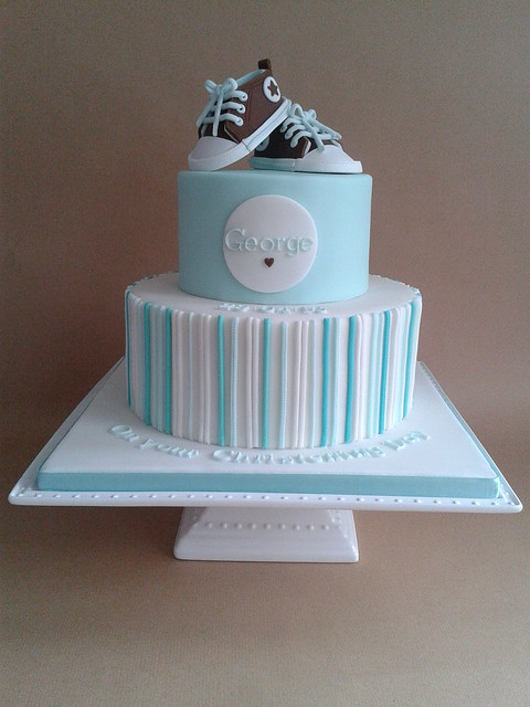 Making A Two Tier Christening Cake