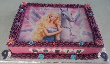Barbie Sheet Cake Images : Barbie themed sheetcake 9th Birthday cake - Barbie ...