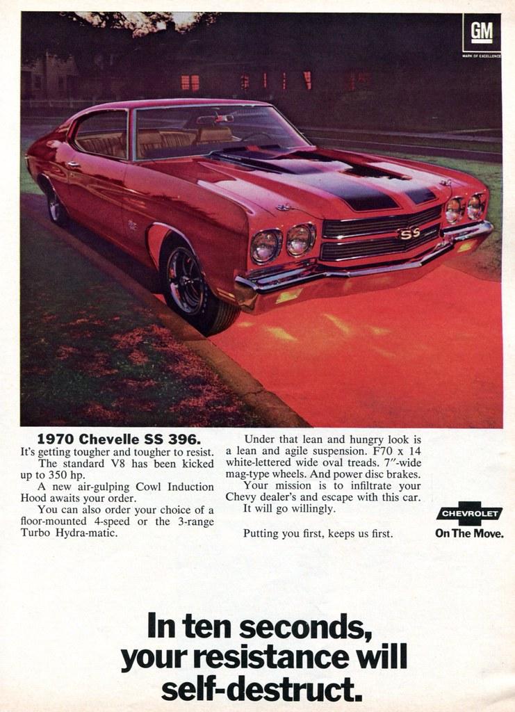 New Chevelle Ss >> 1970 Chevrolet Chevelle SS 396 Advertising Hot Rod Magazin… | Flickr