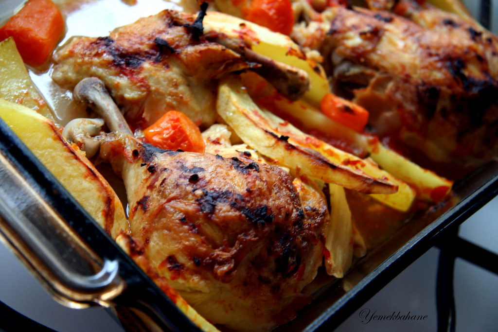 Fırında patatesli tavuk but   Yemekbahane   Flickr