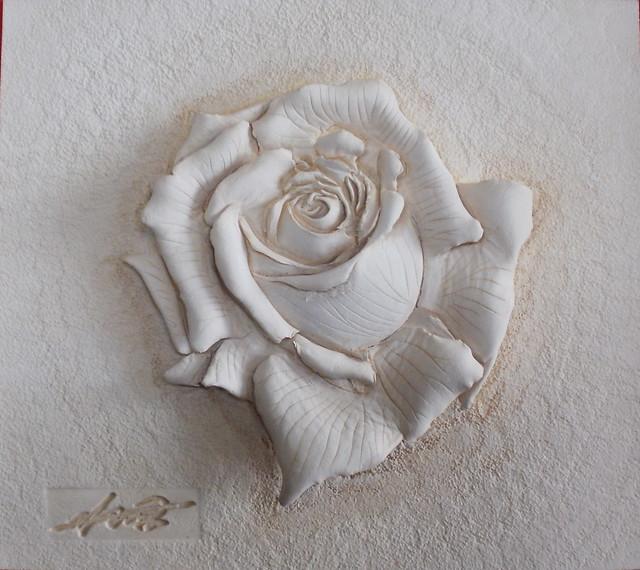 가죽공예 장미 d 카빙 입체조각 leather craft rose carving flickr