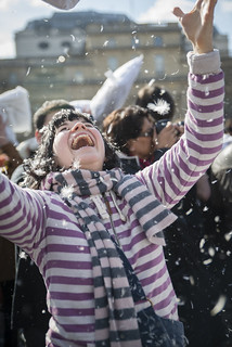 World Pillow Fight Day 2013 - London | by Andy Sidders
