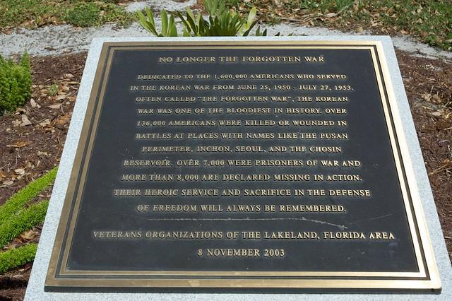 veterans memorial park lakeland fl no longer the forgotten war. Interior Design Ideas. Home Design Ideas