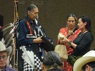 Me presenting gifts to Carter Camp | by Neeta Lind