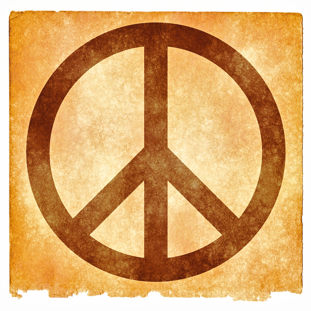 Peace Grunge Sign Sepia Grunge Textured Peace Symbol On Flickr
