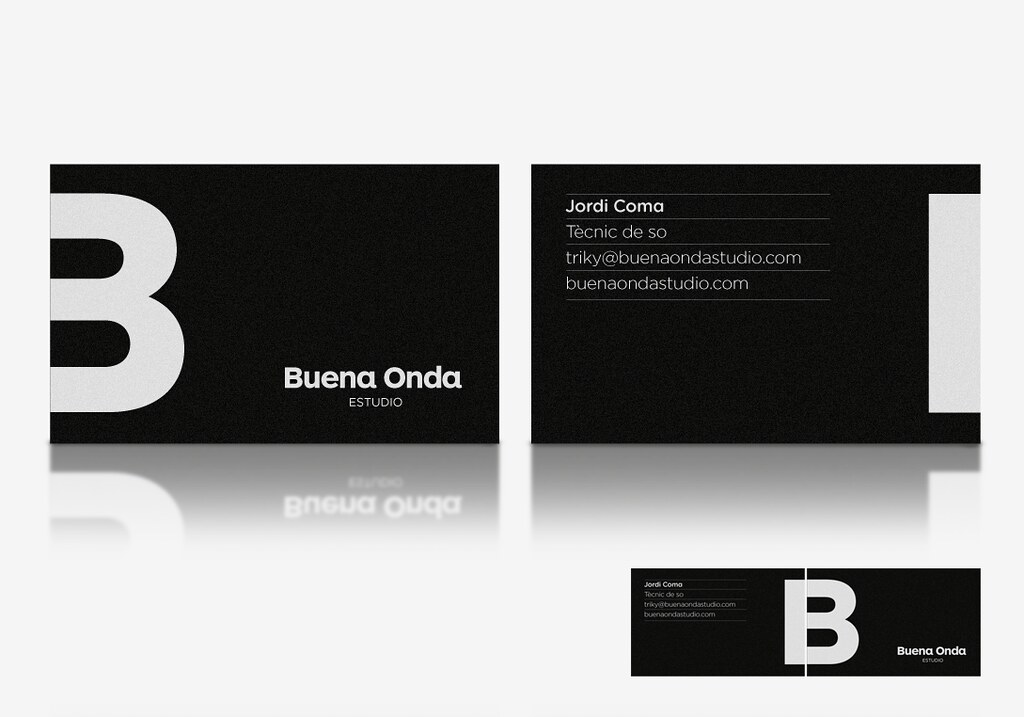Buena onda recording studio business cards by quim marin w flickr buena onda recording studio business cards by quim marin colourmoves