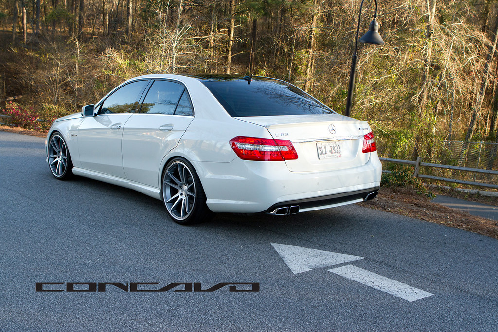 Mercedes Benz E63 AMG on CW-S5 Matte Grey Machined Face- w ...