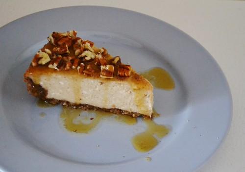 Banana Rum Cheesecake with Maple Rum Sauce | vegetarian.abou ...