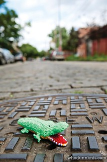 Stitch New York - Snap the Sewer Alligator front | by Deadly Knitshade