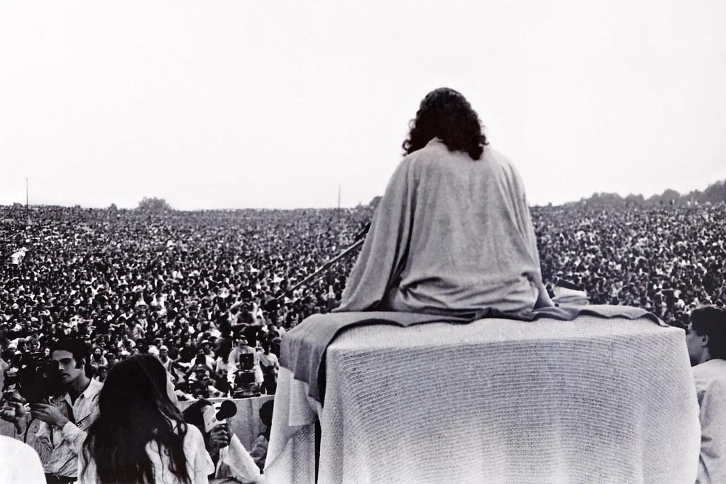 Yoga master swami satchidananda at woodstock 1969 flickr