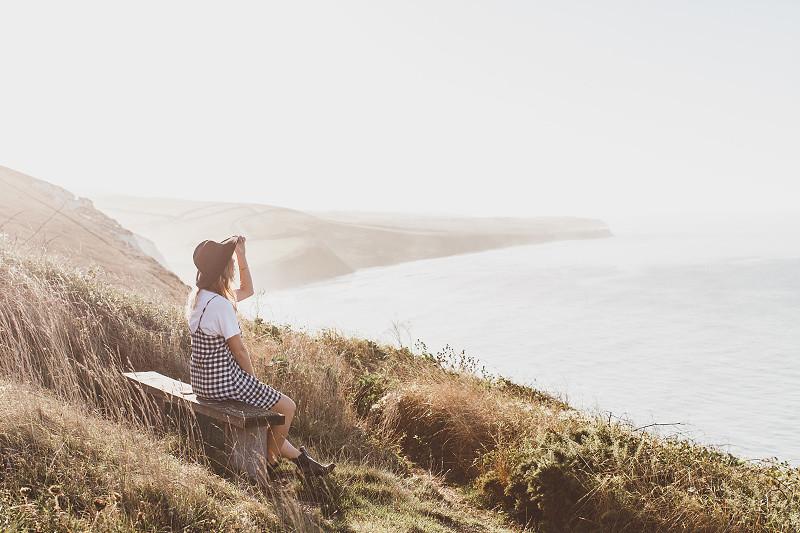 Sunset English cliffs