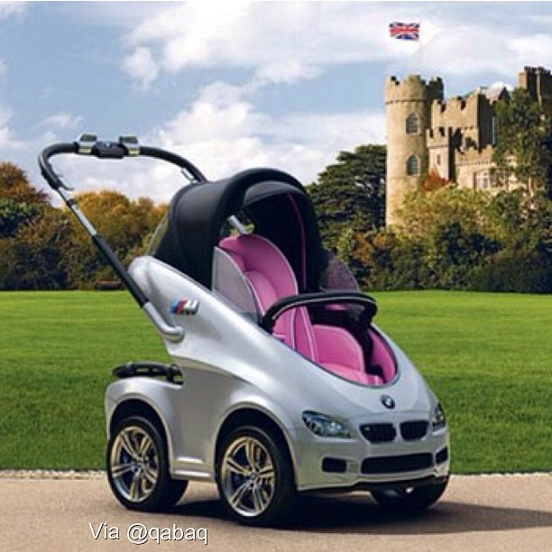 Bmw April Fools Joke Self Propelled Baby Stroller With Air