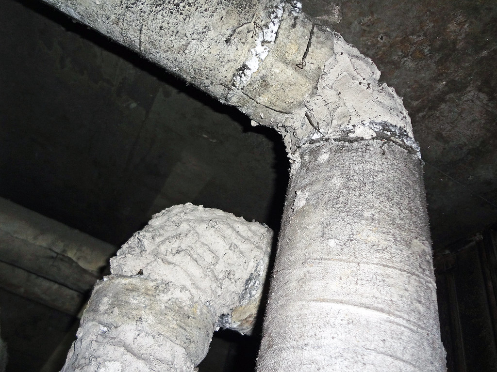Hand Applied Asbestos Quot Mud Quot Pipe Insulation View Of Quot Mud
