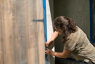 Carly Taping Off Cistern Shed | by goingslowly