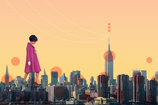 new york city women collage by laura redburn