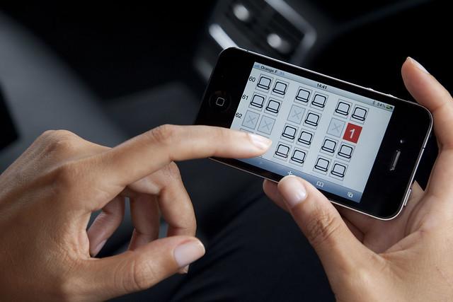 Eligiendo asiento en el smartphone