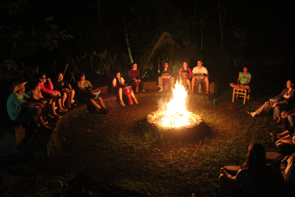 Campfire Drum Circle Green Camp Bali Flickr