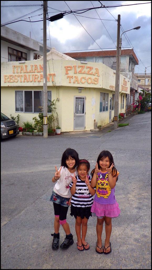 Henoko Kids Three Cutie Pies By An Italian Restaurant I Flickr