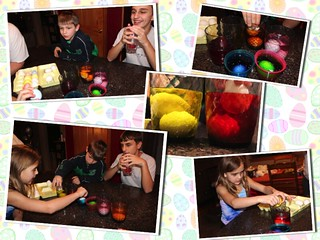 Coloring Eggs | by Our Family Nest
