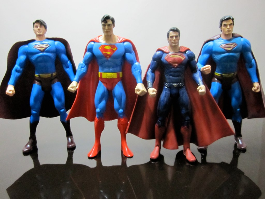 Brandon Routh Christopher Reeve Henry Cavill Tom Welling