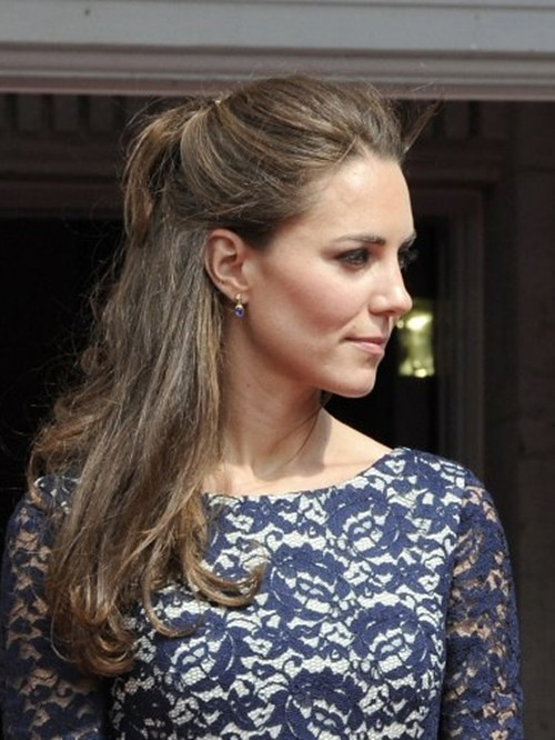 kate middleton half updo wwwpixsharkcom images