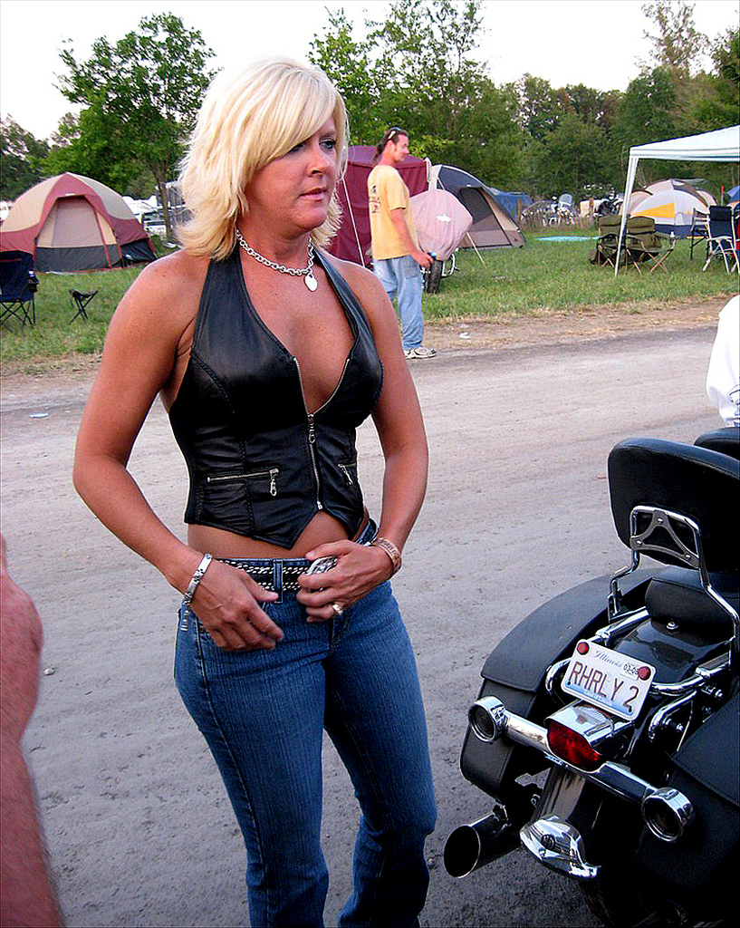 Biker chick big tits